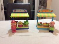 Elc early learning centre happyland market stalls flowers and fruit