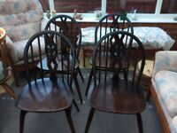 ERCOL Set of 4 Dining chairs