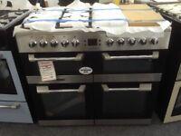 Leisure cuisinemaster 100cm range cooker. RRP £1099 stainless steel. New/graded 12 month Gtee
