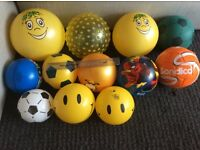 Collection of balls, varying sizes