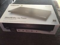 Brand new unused still boxed Samsung Ultra HD blue ray player in excellent condition buyer collects