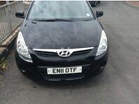 Hyundai i20 11plate 1.2l in black 11months mot