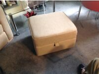 Ex dfs double sofa bed with bucket chair and large storage footstool