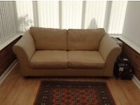 Second hand M&S sofa bed (double), biscuit colour