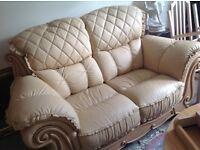 Italian leather sofa new