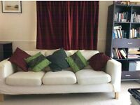 karlstad 3 seater sofa, needs new cover