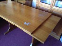 Dining Table, extending, pine veneer