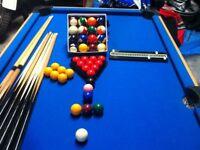 6 foot snooker pool table