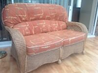 Conservatory suite sofa and 2 chairs