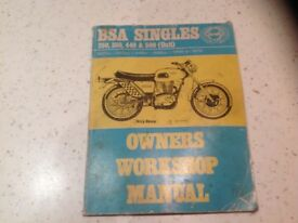 BSA motorbike singles workshop manual