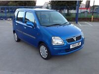 Vauxhall agila 1200 5 door 2001 model with an mot until the 29th of March 2017