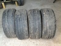 4 Michelin Latitude Sport Tyres 255/45/20. The lot.
