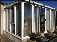 Lean to conservatory 3m x 3.8m, white UPVC