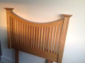John Lewis solid oak single headboard