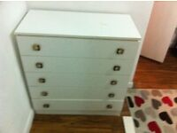 Strong Cream chest of Drawers only £20