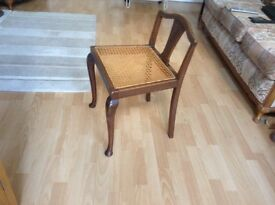 Lovely Low Back Chair/Stool with Rattan Seat