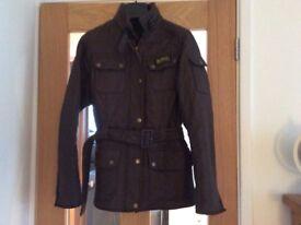 Brown barber jacket size 12