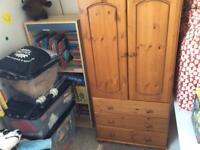 Small wardrobe, wood & ply