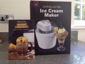 Andrew James Ice Cream Maker - new, unused, still in box.
