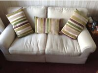 Great condition cream armchair & 2/3 seater sofa