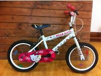 "Girls bike - fully refurbished 16"" Hello Kitty - suitable for 5-7 year olds"