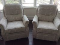 DFS Pinter power recliner chair x2