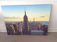 Downtown at Sunrise- New York - stretched canvas print