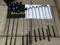 Slazenger caddy and set of right handed golf clubs