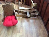 Child Seated rocking chair and wooden seat