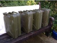 Jerry Cans. MIlitary Grade
