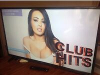 SHARP 48-INCH FULL HD 1080p LED TV with built-in Freeview HD, USB Recording, in excellent condition