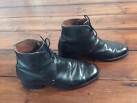 Beautiful men's Vintage 1960's Navy boots, all Leather, size 8 with custom studs.