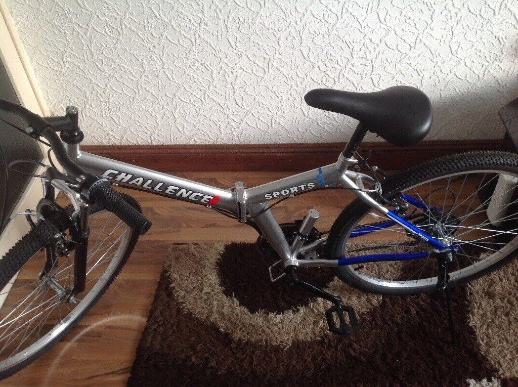 "26"" Wheel Folding Foldable Steel Mountain Bicycle Bike Front Suspension"