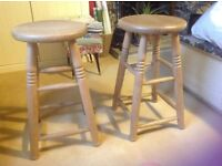 Pair of pine stools for sale