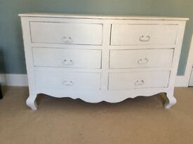 Large white antique white chest of drawers
