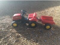 Rolly sit on toy tractor