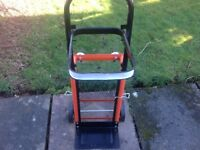 Handy sturdy garden trolley in as new condition