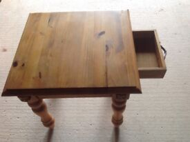 Small Solid Pine Side Table