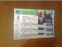 3 World Darts Champs Tickets18/12 Afternoon Session SOLD OUT
