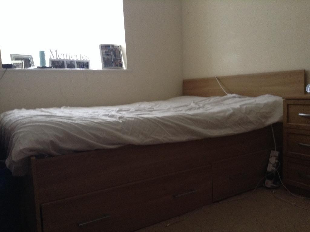 Galant Ikea Höhenverstellbar ~ Double Bed with mattress  in Dunstable, Bedfordshire  Gumtree