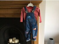 Boy's top and dungarees set from Next