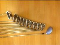 Ping i3 steel clubs and ping bag
