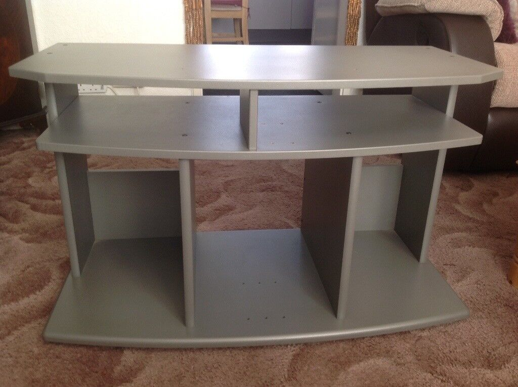 Silver/ grey wooden Tv stand