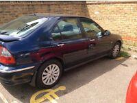 Spares or repairs 2003 rover 45 1.6cc 5 door starts has water leak long mot £175