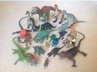A selection of toy dinosaurs