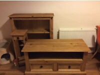 tv cabinet, dvd cabinet and stand solid pine