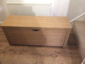 Shoe storage cabinet oak effect