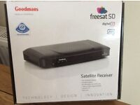 Goodmans Freesat Box SD. Brand new--never taken out of box