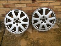 Pair of ford mondeo wheels