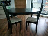 Bjursta extendable table & 6 chairs: yours for a hundred!